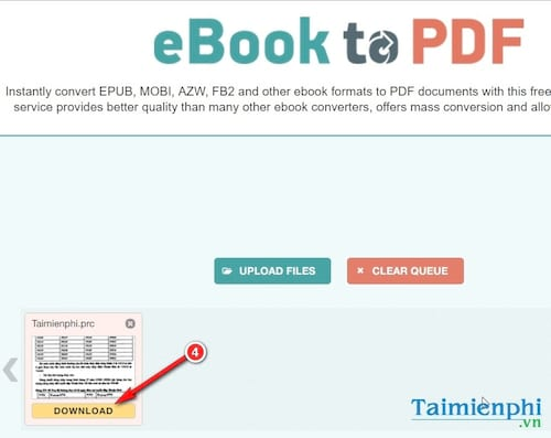 How to convert a prc file to pdf online