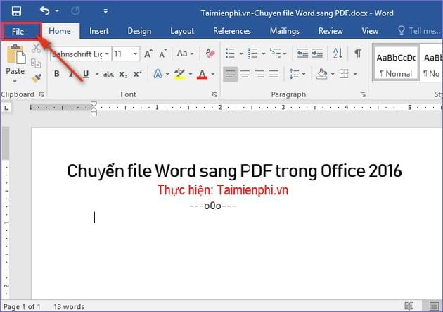How to convert a word file to a pdf in office 2016 2