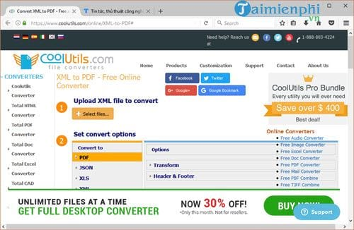How to convert an xml file to a PDF without the need to convert it online 2