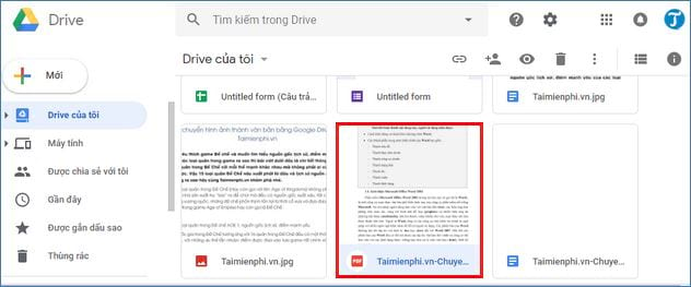 How to convert pdf to Google Drive using doc 3