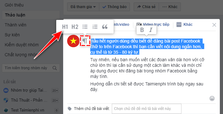 how to show facebook to facebook group 3