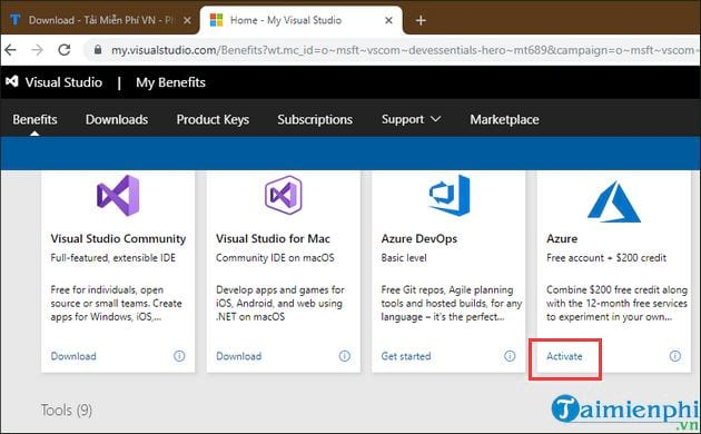 how to register azure 9