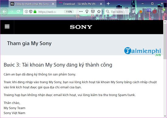 how to register a sony 4 account