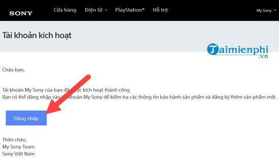 how to register a sony 6 account