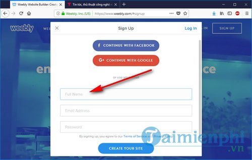 how to register weebly 3