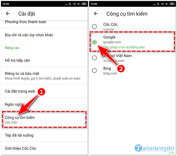How to set Google search to find mac chat on coc 6