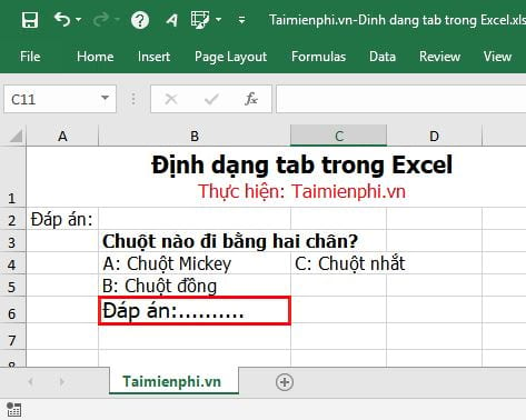 how to tab in excel 2