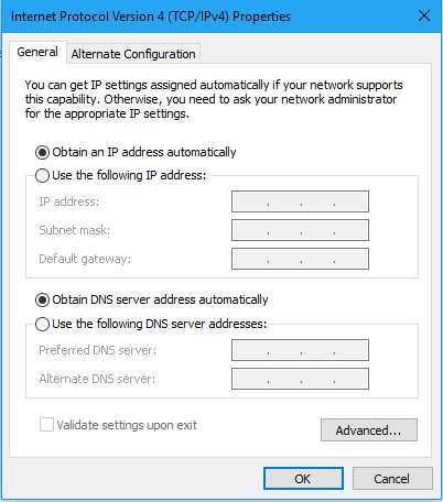 how to change ip address for windows 10 6
