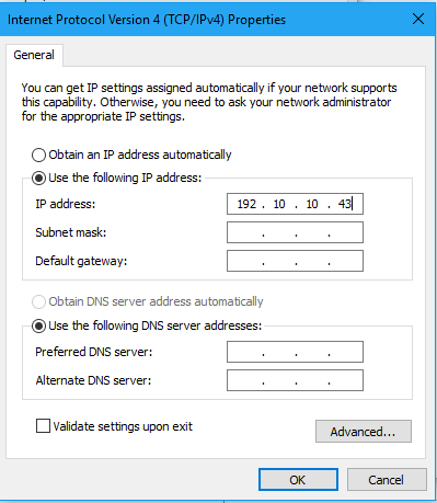 how to change ip address for windows 10 7