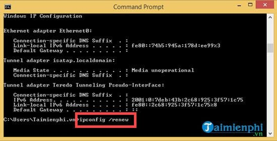 How to change ip address for Windows 8 1 13