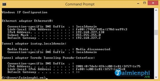 How to change the IP address for Windows 8 1 14