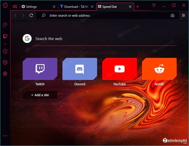 how to change the interface of opera gx 5