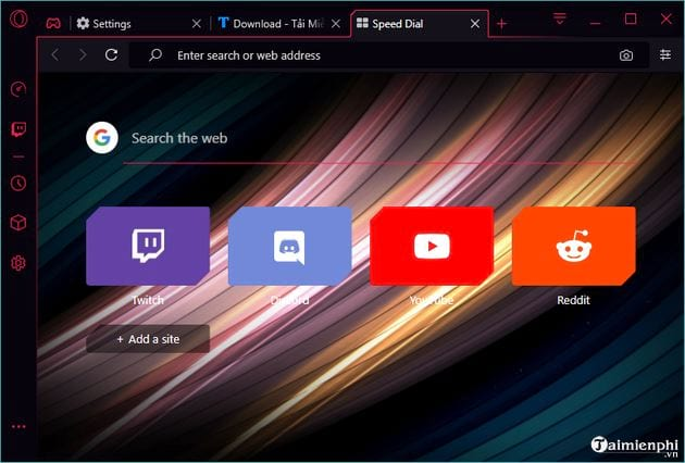 How to change the interface of Opera GX 6