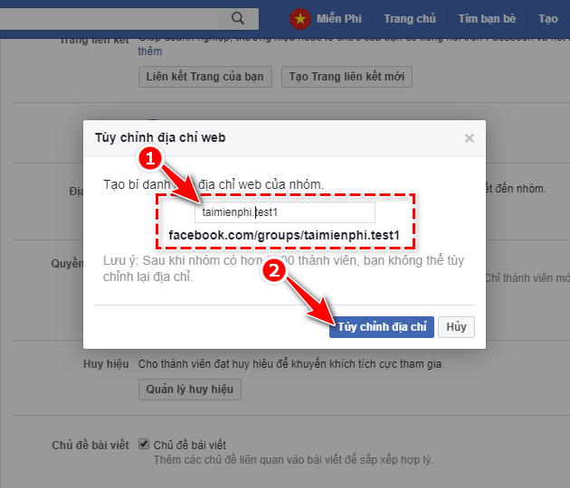 how to link facebook group 5