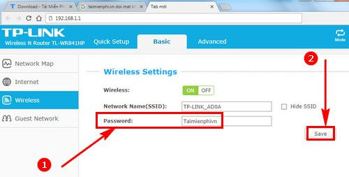 how to change wifi password wr wr4141hp 4