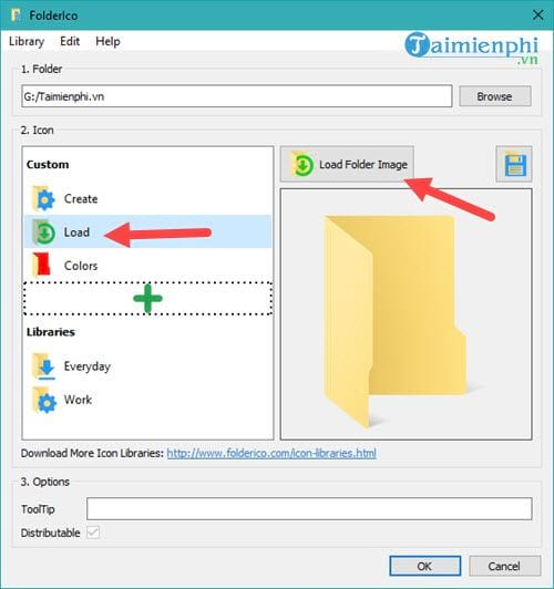 how to change the folder interface with folderico 10