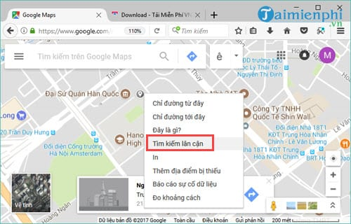 Use Google maps quickly