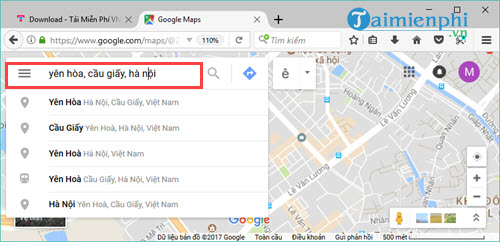 use Google maps