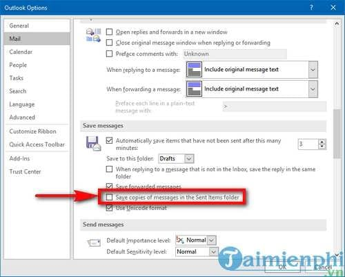 Save email address in Outlook 2016