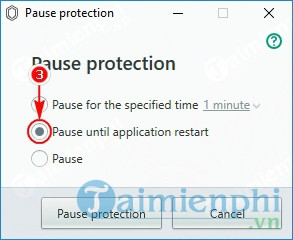 How to disable Kaspersky Protection by pause protection 4