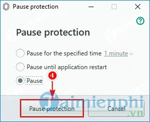 How to disable Kaspersky Protection by pause protection 6