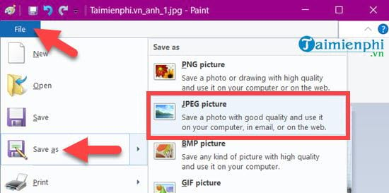 How to paint photos on Windows 10 15