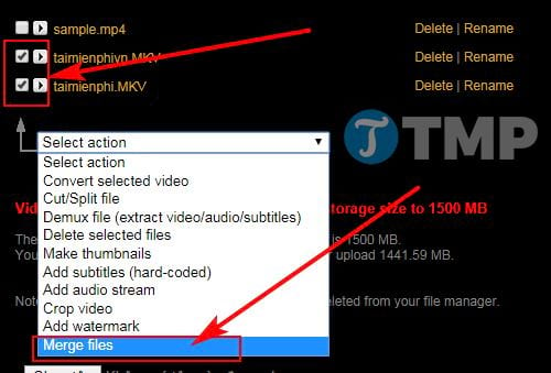 how to merge videos without installing mem 8