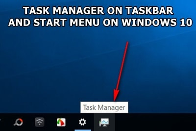 pin the task manager to the taskbar