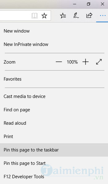 how to pin a website to the taskbar pin 11
