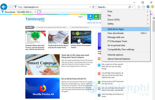how to pin a website to the taskbar pin 8