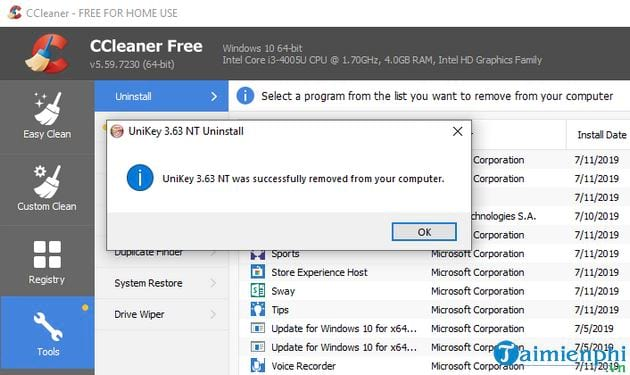 How to uninstall ccleaner software 6