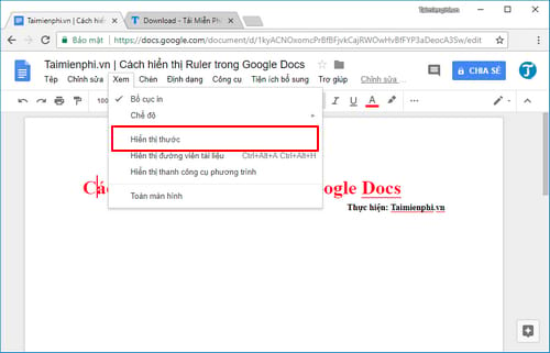 how to display ruler in google docs 3