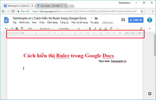 how to display ruler in google docs 4