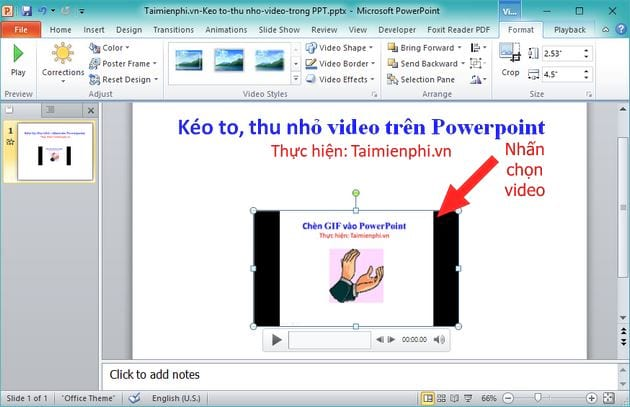 How to glue video on powerpoint screen video format 2