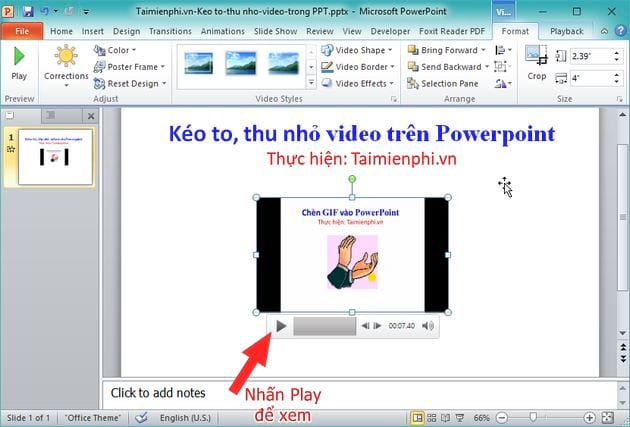 how to capture video on powerpoint video format 7