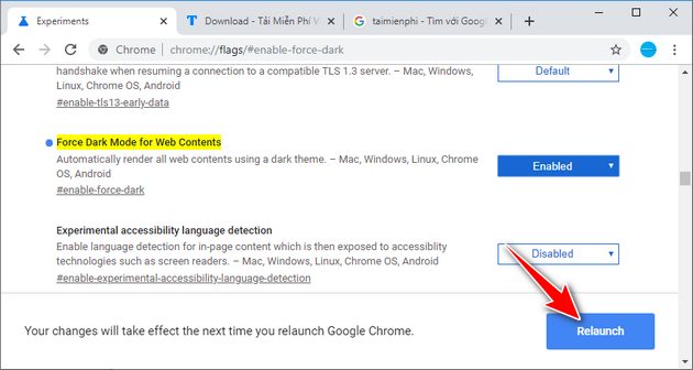 how to enable dark mode on chrome 4