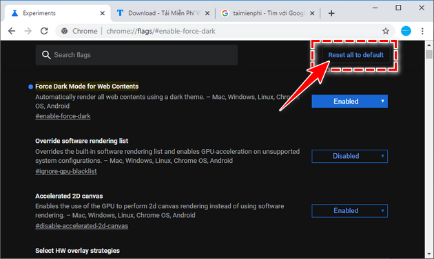 how to enable dark mode on chrome 6