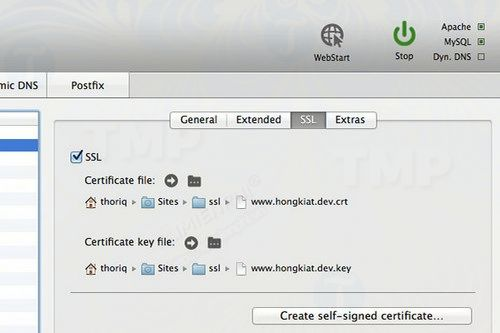 how to enable ssl for localhost with mamp 3