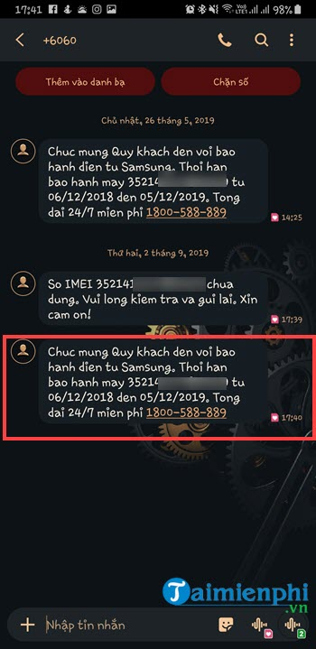 how to check your Samsung mobile phone 6