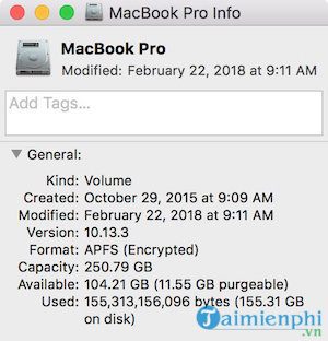 how to check the capacity in macbook 2