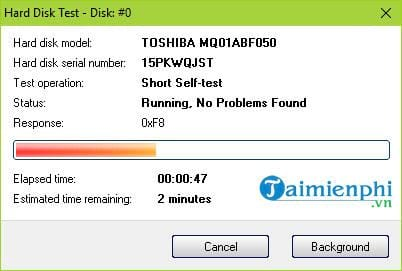 how to check status on hard disk sentinel 6