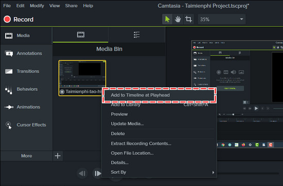 how to make swing around in camtasia studio 9 3