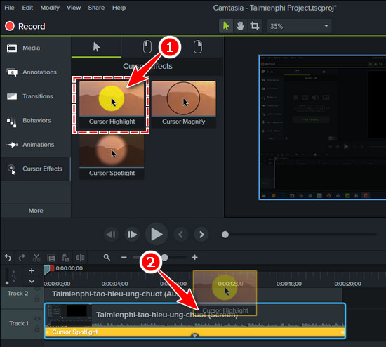 how to make swing around in camtasia studio 9 5