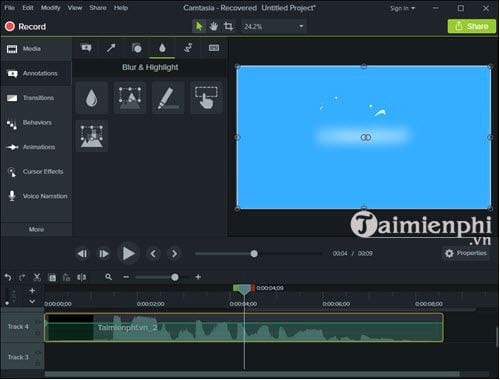 how to make a lie in video with camtasia 5
