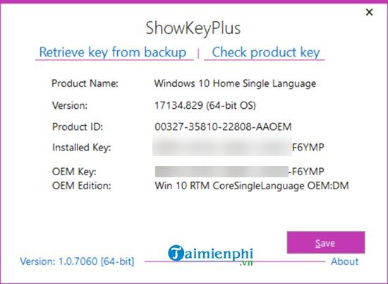 how to reinstall the key and re-activate the original windows 5