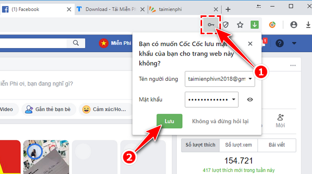 how to save facebook password on coc 7