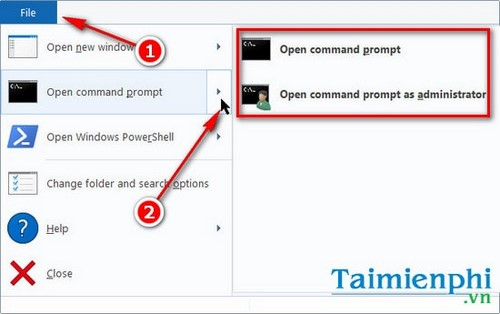How to access the command prompt on Windows 10