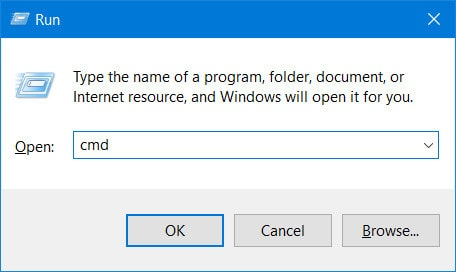 Access the command prompt on windows 10