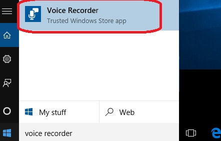 A folder of recorded files on Windows 10