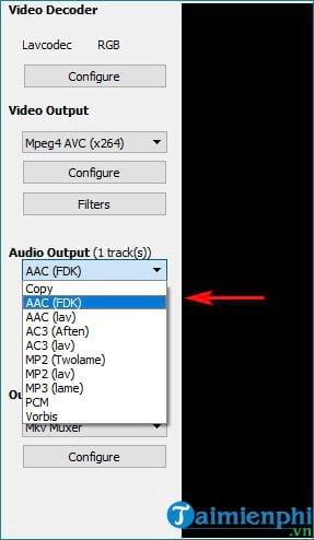 how to disable video in avidemux compress video 4